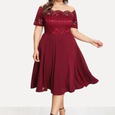 https://www.shein.co.uk/Plus-Guipure-Lace-Bodice-Fit-&-Flare-Bardot-Dress-p-458683-cat-1889.html